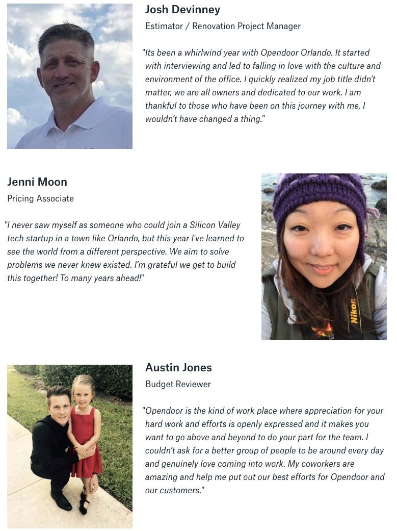 Opendoor Orlando Employee Testimonials