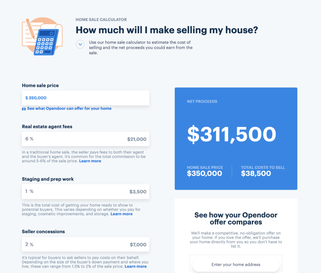 How Much Are Closing Costs For The Seller Opendoor